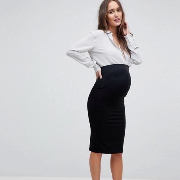 c50a0959fac ASOS Maternity Dresses   Skirts - ASOS Maternity Jersey Pencil Skirt in  black